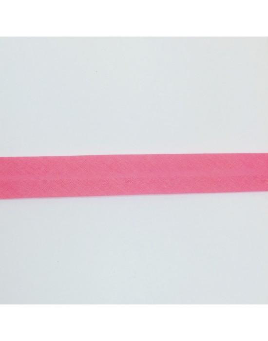 Cinta de biés color Rosa fuerte 18 mm