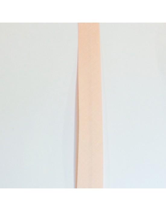 Cinta de biés rosa palo 18 mm