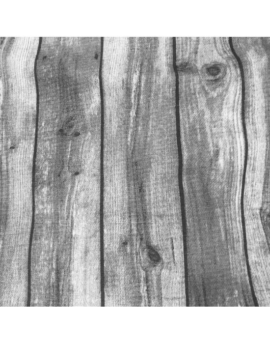 Tela imitación madera en gris 280 cm