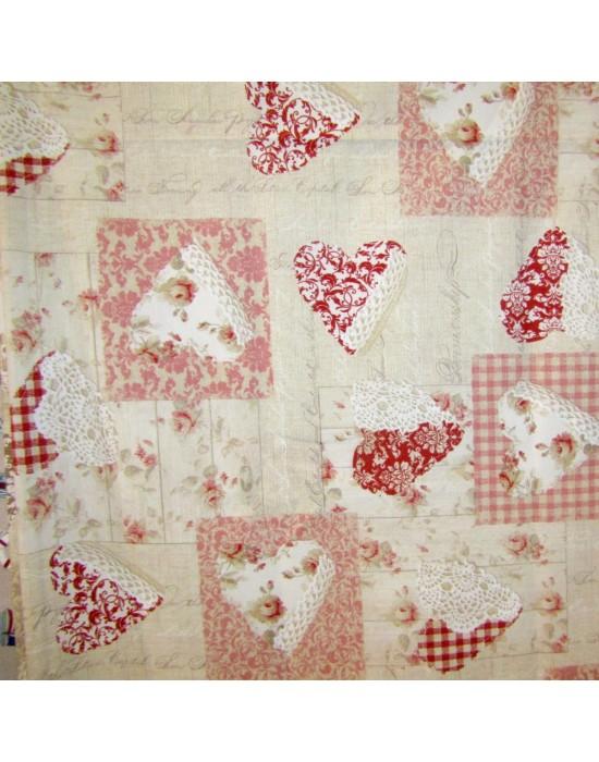 Tela imitacion patchwork romantica - 280 cm