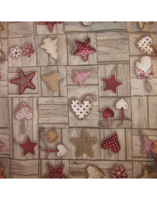 tela loneta falso patchwork navidad