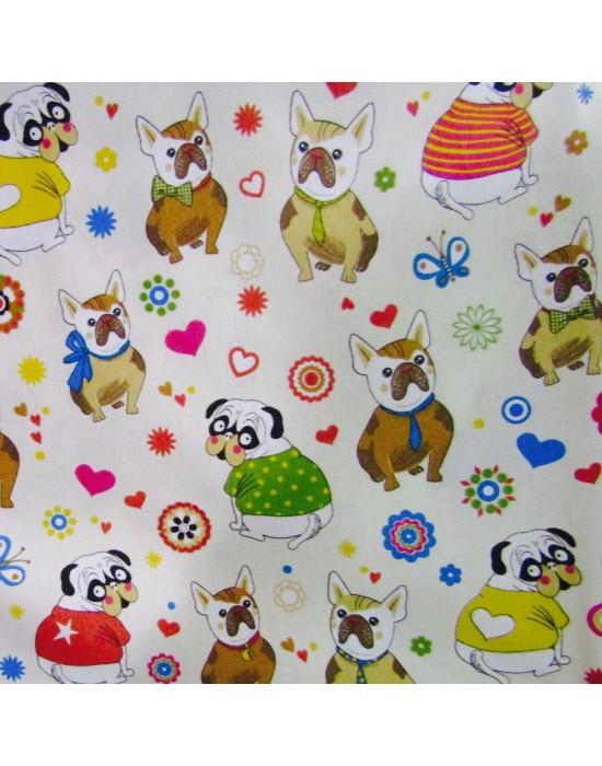 tela infantil perritos multicolor