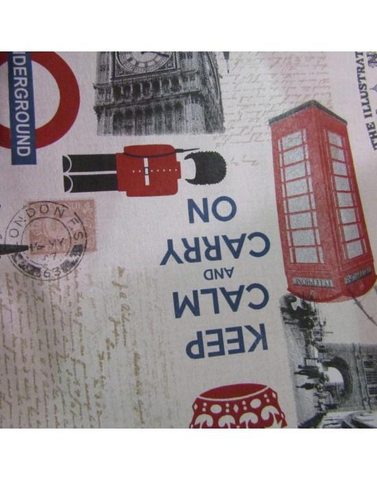 Tela loneta estampado londinense