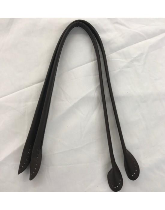 Asa bolso polipiel marrón 50 cm