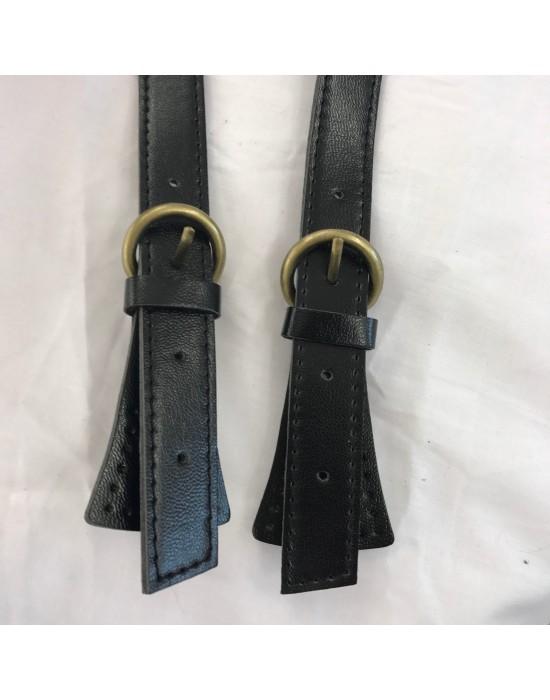 Asa bolso imitación piel  negra 50 cm