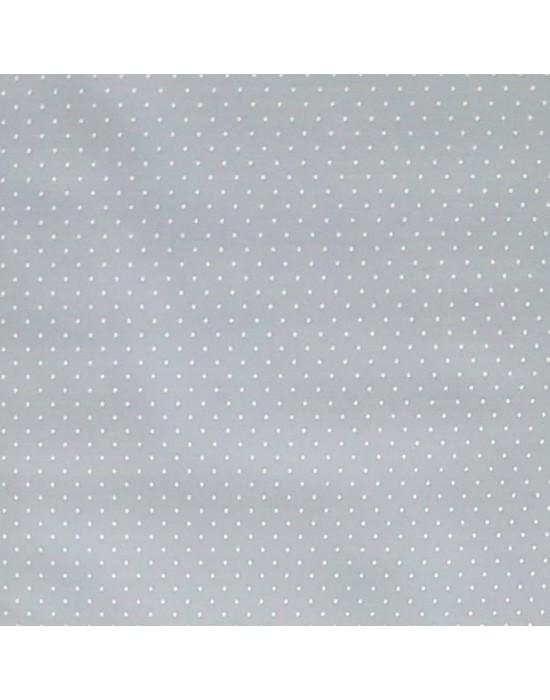 Tela patchwork azul empolvado con motas blancas  - 10 x 150 cm