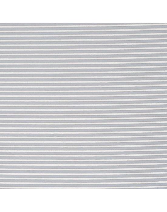 Tela patchwork azul empolvado con rallas blancas  - 10 x 150 cm