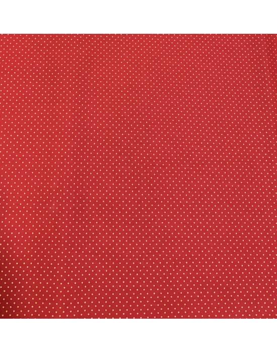 Tela Navidad Roja con motitas doradas 10 x 140