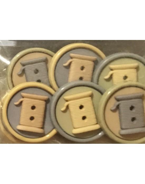 Botones Decorativos bobinas hilo