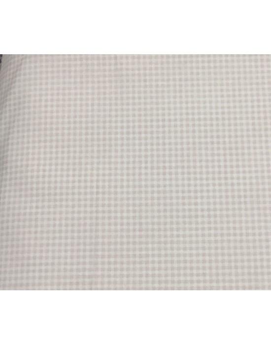Tela patchwork rosa cuadros blancos  - 10 x 1,60 cm