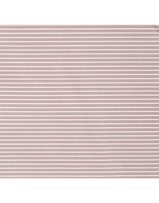 Tela patchwork rosa empolvado con rallas blancas  - 10 x 150 cm