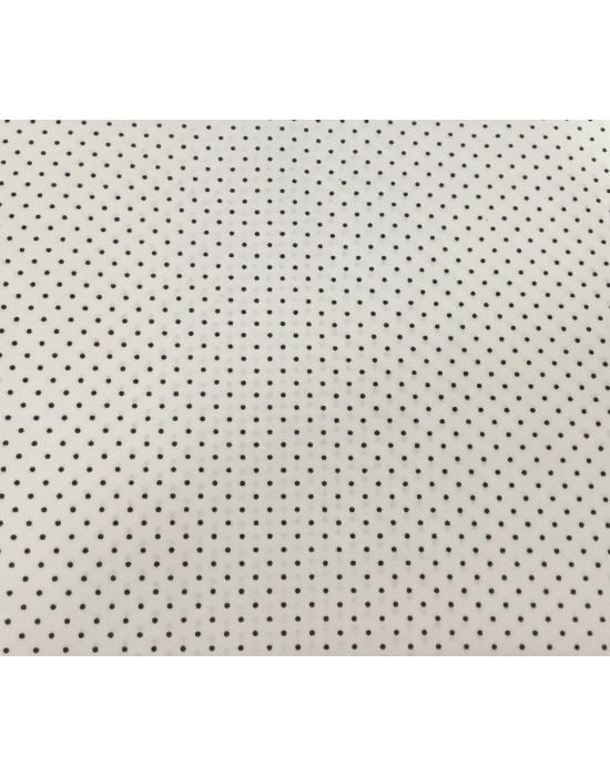 Tela patchwork blanca con lunares gris - 10 x 140 cm