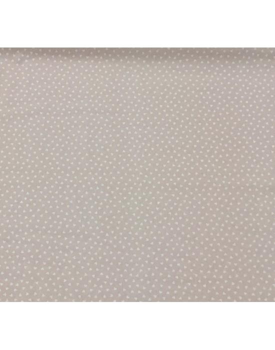 Tela patchwork marrón empolvado con estrellas blancas   - 10 x 140 cm