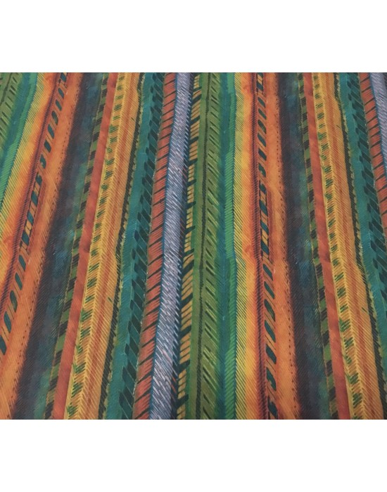 Tela patchwork rayas  y colores africanos - 10 x 140 cm
