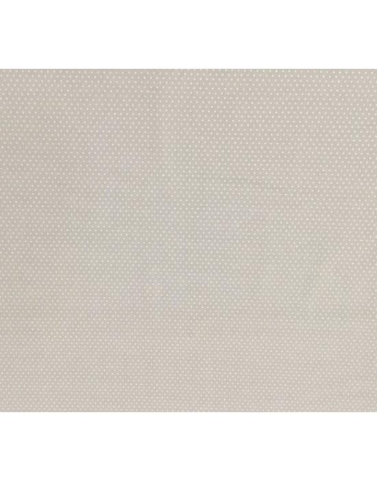 Tela lunares blancos fondo beige -10 x 140 cm