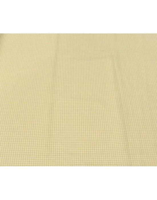 Tela patchwork estampado cuadritos blancos y marrones - 10 x 150cm