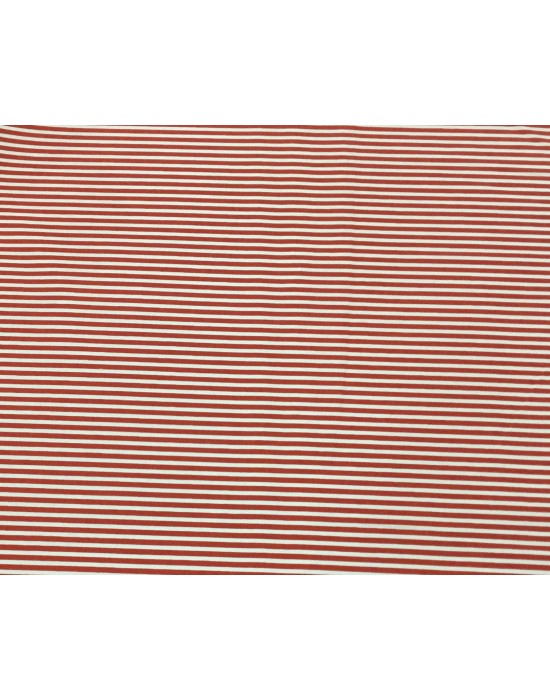 Tela rayada marinera en blanco y rojo - 10 x 110 cm